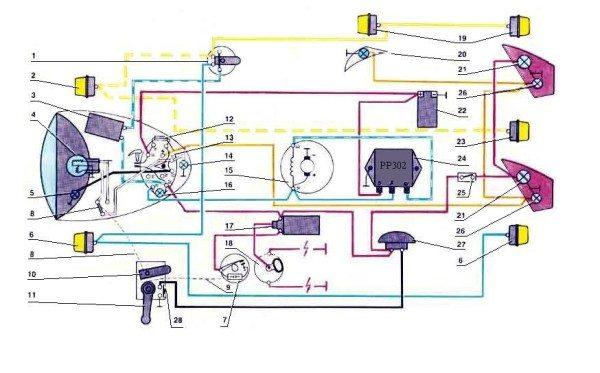 схема электропроводки на мотоцикл урал