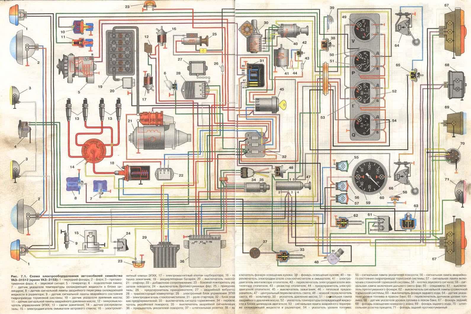 Электрическая схема уаз патриот 2014 фото 710