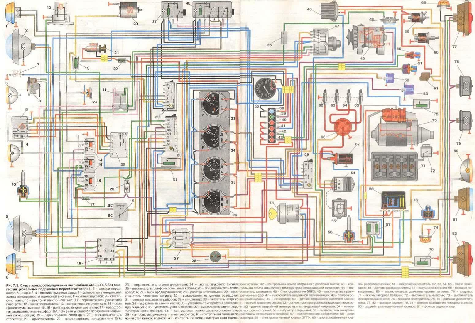 Схема электропроводки уаз-3303