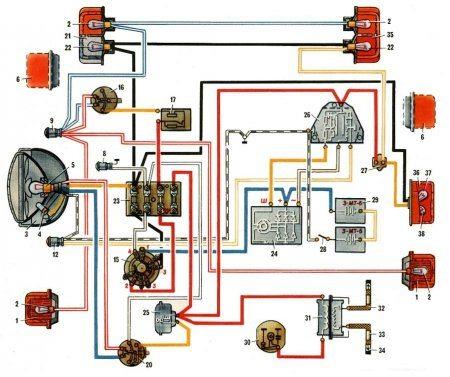 схема электропроводки урал