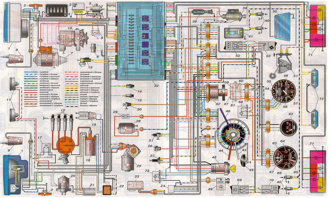 схема электропроводки ваз 2105