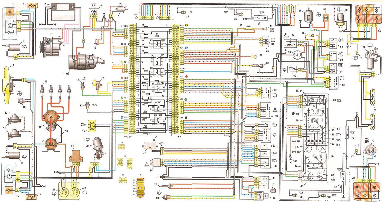 Ваз-21074 схема электрооборудования