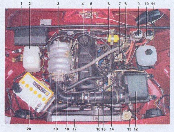 Схема электропроводки ваз 21074 инжектор