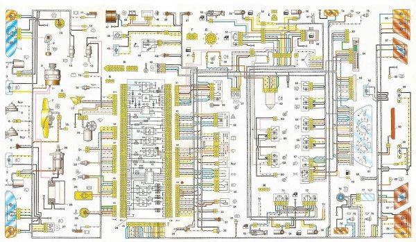 Схема электропроводки ваз 2115 инжектор 8 клапанов