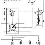 Схема контактной системы зажигания с трехклеммовой катушкой