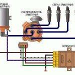 Схема подключения электронного зажигания