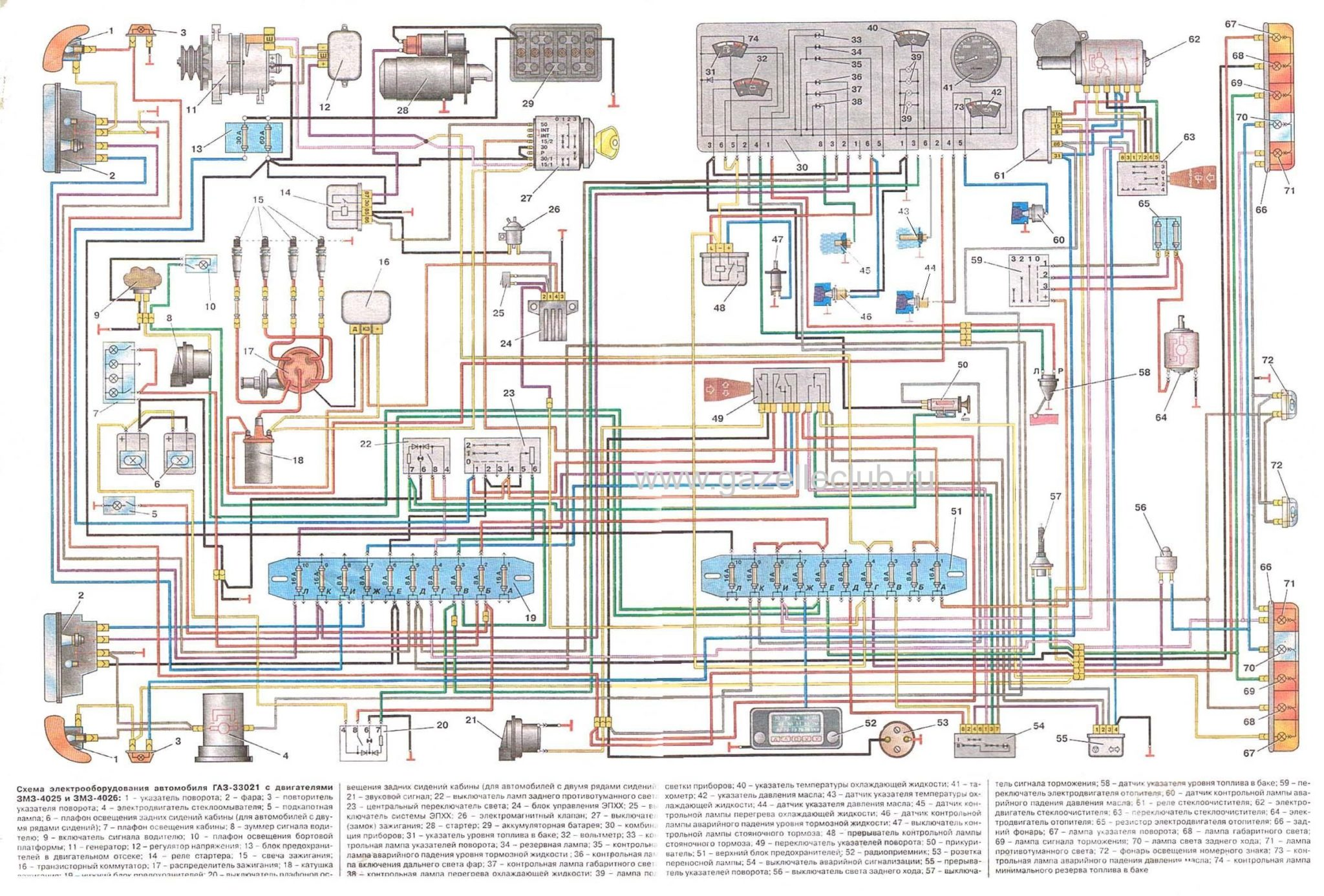 схема лампы цепи неисправностей газель бизнес