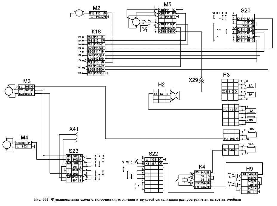 схема проводки камаз