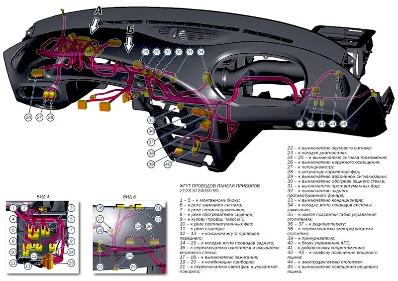 Схема проводки Нива Шевроле