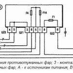 Схема установки противотуманных фар на ВАЗ 2110