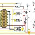 Схема включения габаритов и салонного освещения