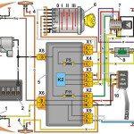 Схема включения указателей поворота и аварийной сигнализации