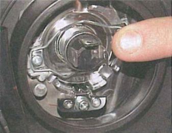 Замена лампы в лансер