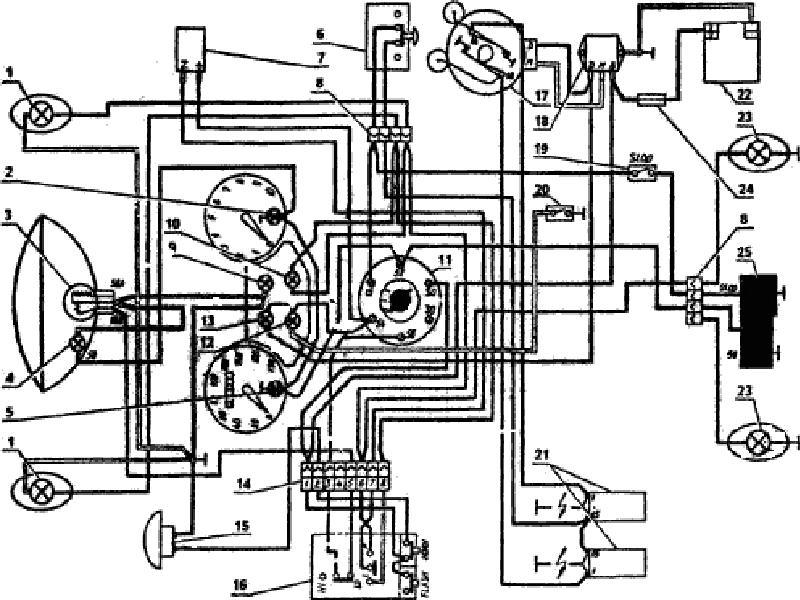 Заводская схема электропроводки Ява 350 образца 1976 года
