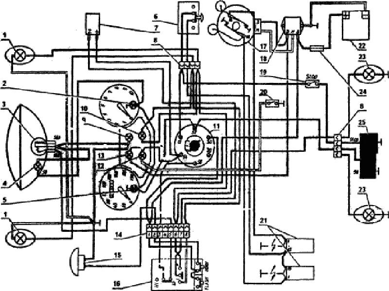схема электропроводки Ява
