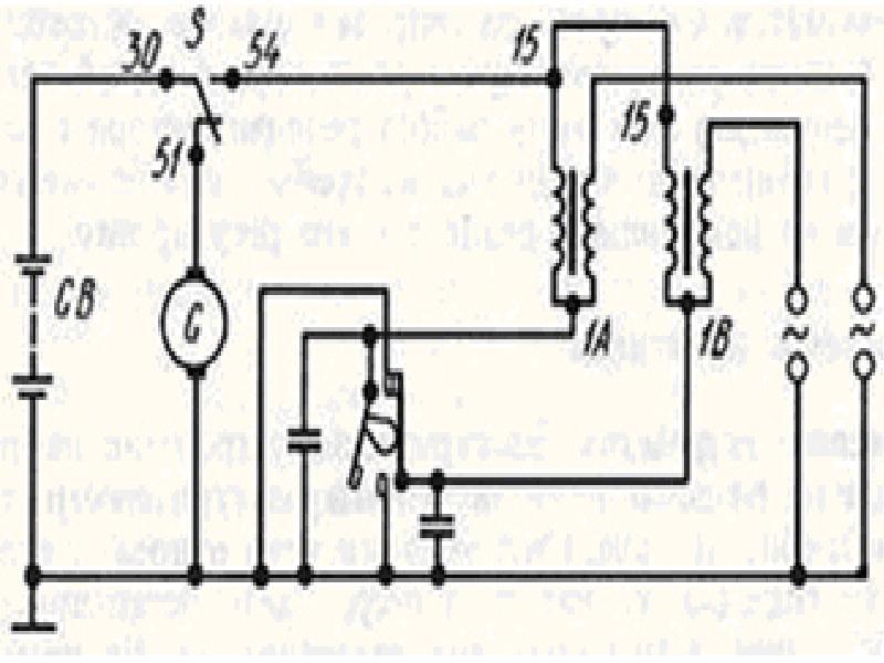 Заводская схема проводки Ява